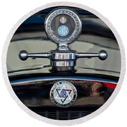 1928 Dodge Brothers Hood Ornament Round Beach Towel by Jill Reger