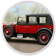 1928 Rolls-royce Phantom 1 Round Beach Towel
