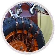 1928 Studebaker President Roadster Spare Tire Round Beach Towel