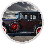 Classic 4 Door Ford Round Beach Towel