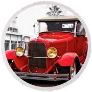 1929 Ford Hot Road Roadster II Round Beach Towel