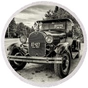 1929 Ford Model A Pickup Round Beach Towel
