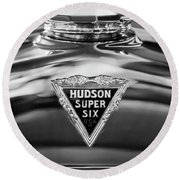 1929 Hudson Cabriolet Hood Ornament 2 Round Beach Towel