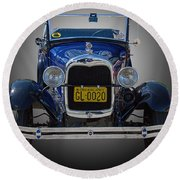 1929 Model A Ford Convertible Round Beach Towel