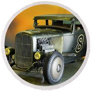 1930-31 Ford 'lakester' Coupe II Round Beach Towel