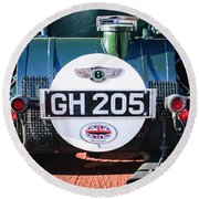 1930 Bentley Speed Six Taillights -0277c Round Beach Towel