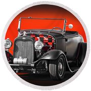 1930 Ford 'red Ball Express' II Round Beach Towel