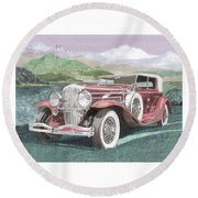 1930 Model J  Duesenberg Round Beach Towel