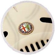 1931 Alfa Romeo 6c 1750 Gran Sport Aprile Spider Corsa Hood Emblem Round Beach Towel