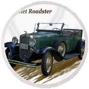 1931 Chevrolet Antique Roadster Round Beach Towel