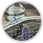 1931 Chevrolet Hood Ornament 2 Round Beach Towel
