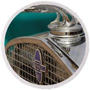 1931 Chevrolet Hood Ornament Round Beach Towel