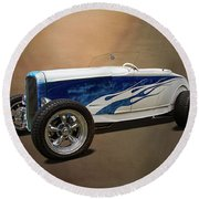 1931 Ford Convertible Hot Rod Round Beach Towel