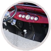 1931 Ford Dashboard Round Beach Towel