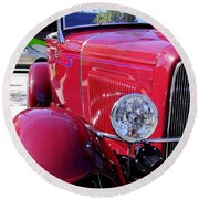 1931 Ford Round Beach Towel