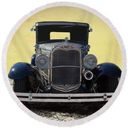 1931 Ford Model A Coupe Round Beach Towel