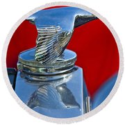 1931 Ford Model A Quail Hood Ornament Round Beach Towel
