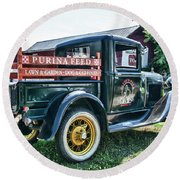 1931 Ford Truck Round Beach Towel