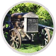 1931 Fordson Tractor Round Beach Towel