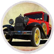 1931 Model A Round Beach Towel
