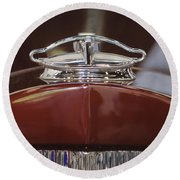 1931 Packard 840 Roadster Hood Ornament Round Beach Towel