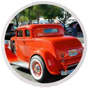 1932 Ford  5 Window Coupe Round Beach Towel