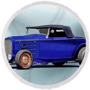 1932 Ford 'classic Hiboy' Roadster Xa Round Beach Towel