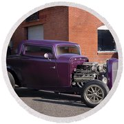 1932 Ford 'grape Soda' Coupe Round Beach Towel