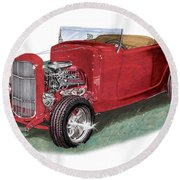 1932 Ford Hi-boy Hot Rod Round Beach Towel