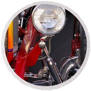 1932 Ford Hi-boy Roadster Headlight Round Beach Towel