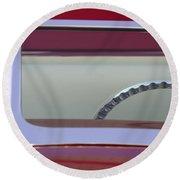 1932 Ford Hi-boy Roadster Steering Wheel Round Beach Towel
