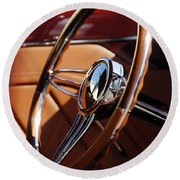 1932 Ford Hot Rod Steering Wheel 2 Round Beach Towel