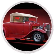 1932 Ford 'rag Top' Roadster Round Beach Towel