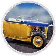 1932 Ford Roadster 'pass Side' L Round Beach Towel