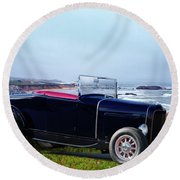 1932 Ford Roadster 'shoreline' Round Beach Towel