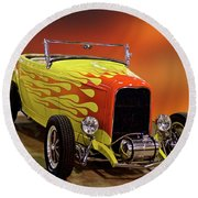 1932 Ford 'sunset' Studio' Roadster Round Beach Towel