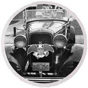 1932 Ford V8 July 4th Parade Tucson Arizona 1986 Round Beach Towel