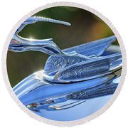 1933 Chrysler Imperial Hood Ornament 2 Round Beach Towel