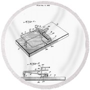 1933 Mouse Trap Round Beach Towel