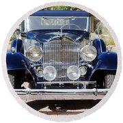 1933 Packard 12 Convertible Coupe Round Beach Towel by Jill Reger