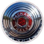 1933 Packard 12 Wheel Round Beach Towel