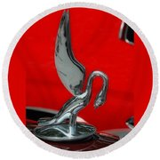 1933 Packard Goose  Hood Ornament Round Beach Towel