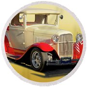 1934 Ford '49'er' Pickup Round Beach Towel