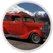 1934 Ford  Round Beach Towel