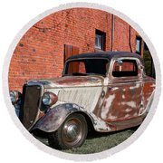 1934 Ford 'patina Plus' Coupe Round Beach Towel