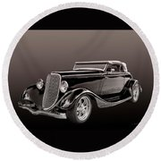 1934 Ford Roadster Round Beach Towel