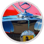 1934 Mercedes Benz 500 K Roadster Round Beach Towel