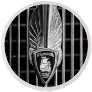 1934 Plymouth Emblem 2 Round Beach Towel