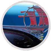 1934 Plymouth Hood Ornament Round Beach Towel