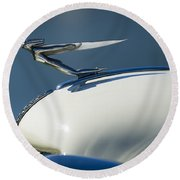 1935 Auburn Hood Ornament 3 Round Beach Towel